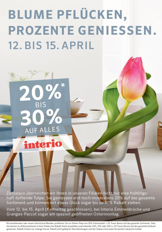Interio Frühlingspromotion Rentahess